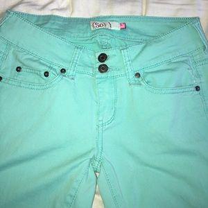 Mint Green Jeans